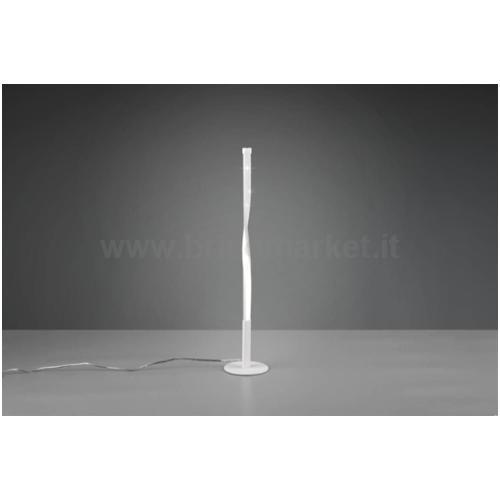 LAMPADA DA TAVOLO LED SPIN 12W H50CM 3000K IN METALLO MICROFORATO BIANCO OPACO CON TOUCH DIMMER