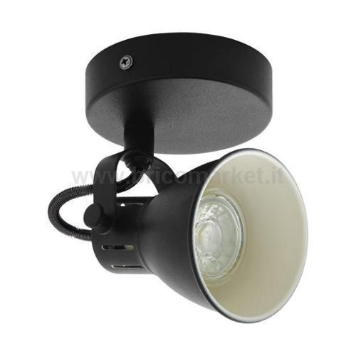 SPOT LED SERAS 3.3W GU10 NERO