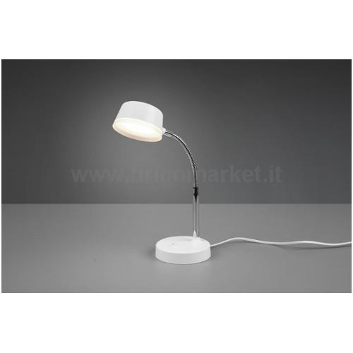 LAMPADA LED DA TAVOLO KIKO 4,5W 3000K H41CM FLESSIBILE BIANCA