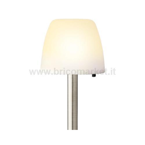 LAMPADA OMBRELLO SOLARE1 LED A LUCE CALDA D.12XH28CM IN PLASTICA CON DIFFUSORE OPALE