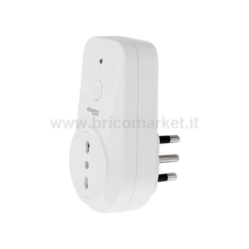 PRESA 10-16A SMART-IT WIFI CON INTERRUTTORE E LED DI STATO DOM-E