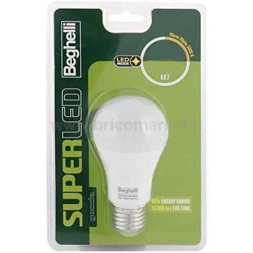 LAMPADA LED GOCCIA E27 12W 6500K SUPERLED