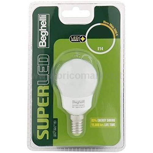 LAMPADA LED SFERA E14 5W 3000K SUPERLED