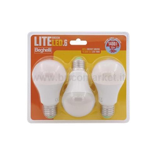 TRIPACK LAMPADA LED GOCCIA E27 13W 6500K LITELED