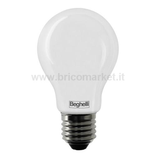 LAMPADA LED GOCCIA E27 8W 6500K TUTTOVETRO OPALE
