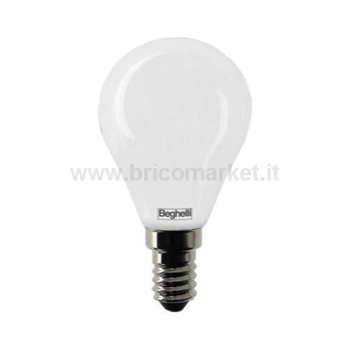 LAMPADA LED SFERA E14 5W 3000K TUTTOVETRO OPALE