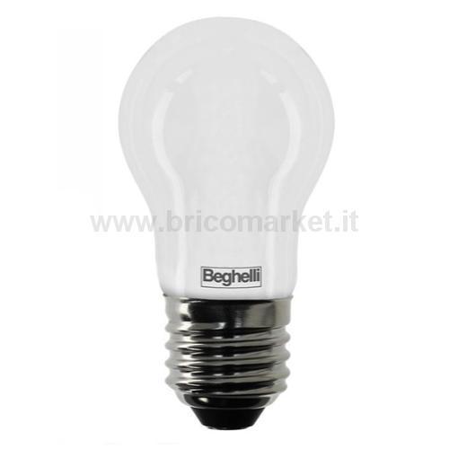 LAMPADA LED SFERA E27 6W 3000K TUTTOVETRO OPALE