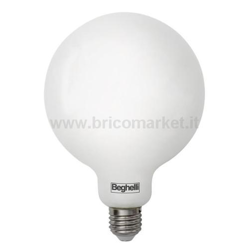LAMPADA LED GLOBO E27 13W 3000K TUTTOVETRO OPALE