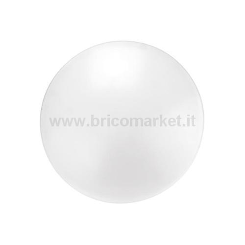 PLAFONIERA D'EMERGENZA LED FULLMOON D.33CM 18W 4000K ANTI-BLACKOUT IP44 OPALE