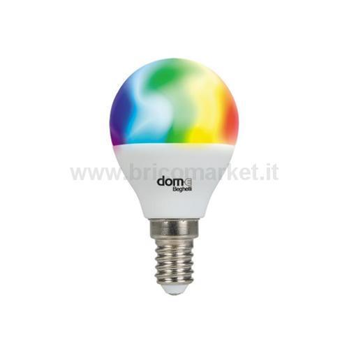 LAMPADA LED SFERA E14 5W RGB + 2700-6500K WIFI DOM-E
