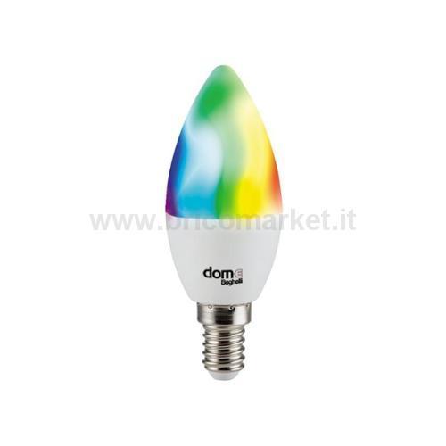 LAMPADA LED OLIVA E14 5W RGB + 2700-6500K WIFI DOM-E