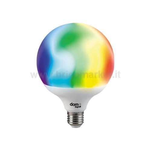 LAMPADA LED GLOBO E27 14W RGB + 2700-6500K WIFI DOM-E