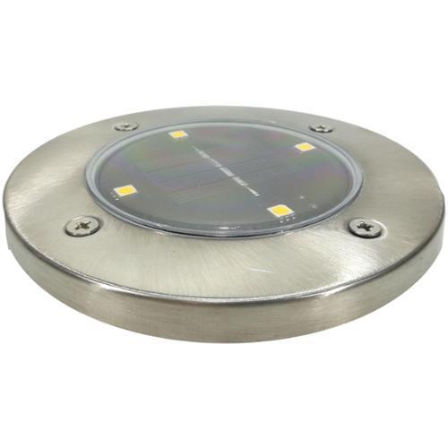 LAMPADA SOLARE 4 LED D.12XH3CM A LUCE CALDA