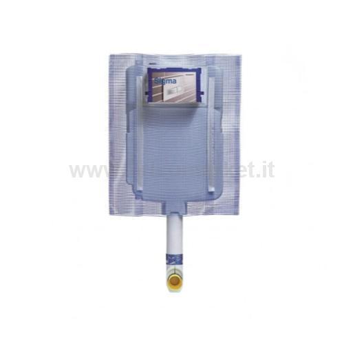 CASSETTA DA INCASSO SIGMA-8 CON 2 TASTI 6L/3L
