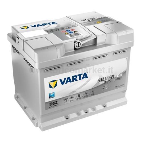 BATTERIA AUTO VARTA 60AH SILVER START & STOP