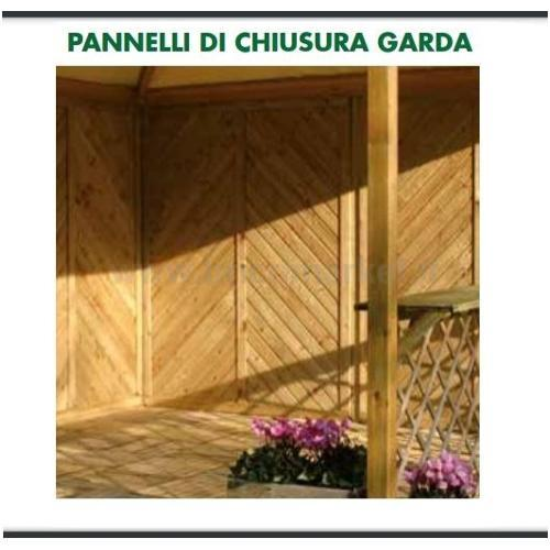 PANNELLO DI CHIUSURA GARDA 220X120CM IN PINO IMPREGNATO