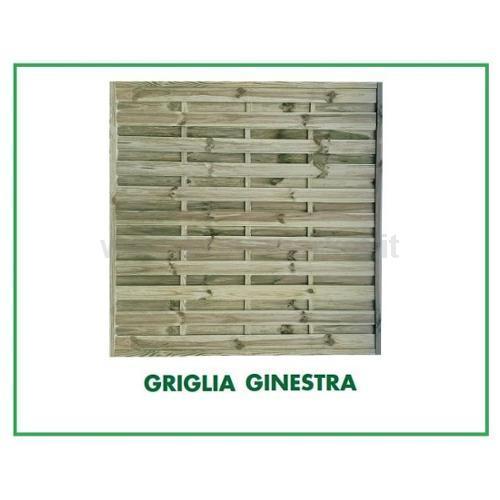 GRIGLIATO GINESTRA 180X90CM IN PINO/ ABETE ROSSO