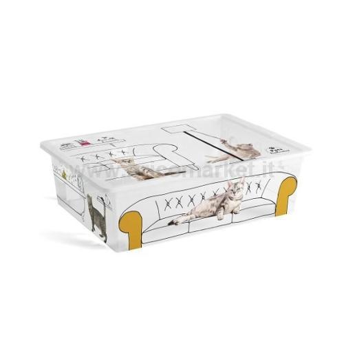 CONTENITORE 55X38.5X16.5H CM L CON RUOTE PETS COLLECTION