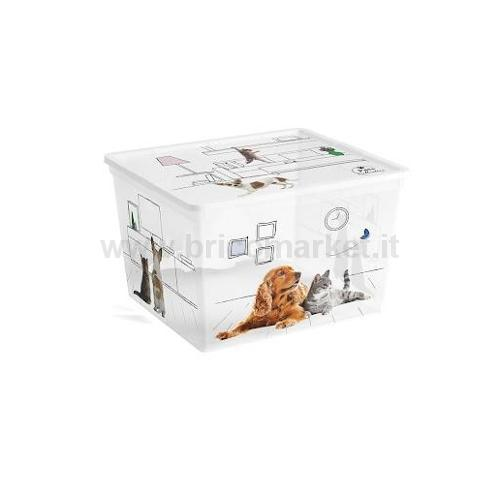 CONTENITORE CUBO 40X34X25H CM PETS COLLECTION
