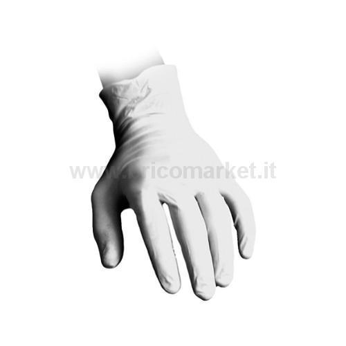 GUANTI MONOUSO FP IN LATTICE TG. XL 100 PZ. BIANCHI CON POLVERE