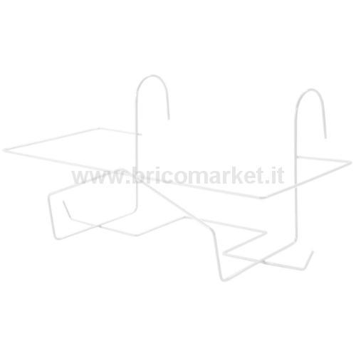 PORTABALCONETTA FISSA 62X22X16CM BIANCO ENEA