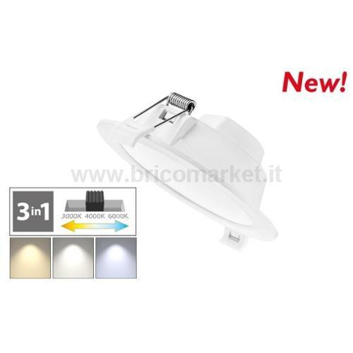 FARETTO LED INCASSO 11.3X3.5CM 6W ROTONDO 3000-6000K