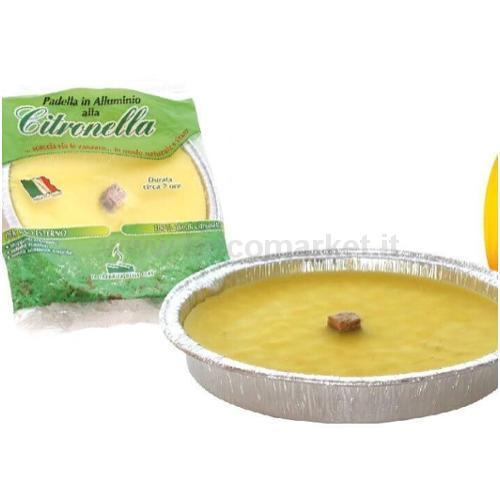 FIACCOLA IN ALLUMINIO ALLA CITRONELLA D.16,5XH2,2CM