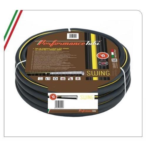 TUBO IRRIGAZIONE SWING 25M 1/2- 3 STRATI IN PVC RETINATO CON COPERTURA IN GOMMA
