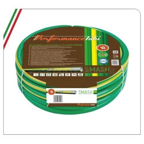 TUBO IRRIGAZIONE SMASH 25M 1/2- 5 STRATI IN PVC MAGLIATO CON FILO ELICOIDALE ANTITORSIONE