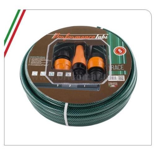 TUBO IRRIGAZIONE KIT RACE 25M 1/2- 3 STRATI IN PVC RETINATO CON LANCIA E ACCESSORI