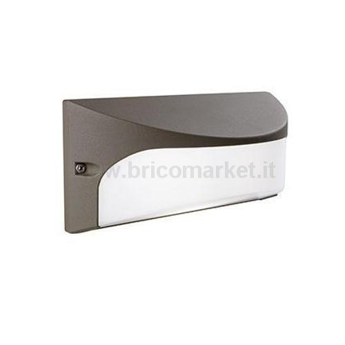 APPLIQUE LED DOME 22X10XH10CM 4000K IP54 MARRONE