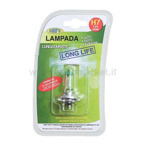 LAMPADINA AUTO H7 12V 55W LONG LIFE